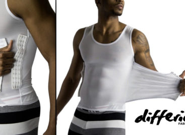 A mens compression shirt that instantly compresses the belly